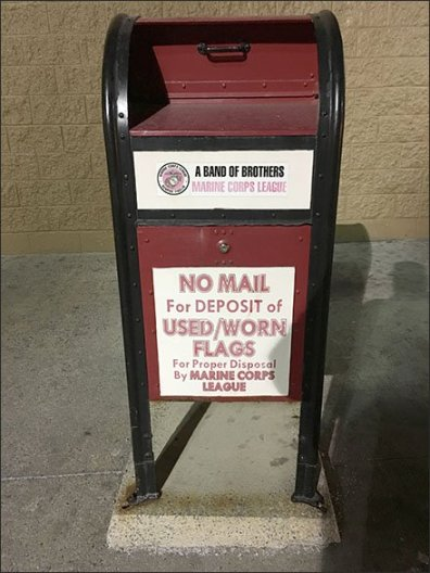 Patriotic Flag Retirement Via Recycled Mailboxes